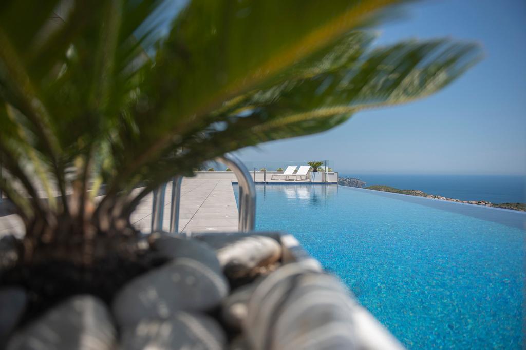 infinity pool palmboom